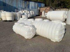 塑料化粪池厂家丨客户定制白色塑料化粪池准备发货啦!
