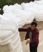 2立方塑料化粪池运抵江西上饶万年县