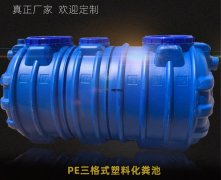 <b>「塑料化粪池厂家」关于吹塑工艺一体成型三格式蓝色pe化粪池颜色说明</b>